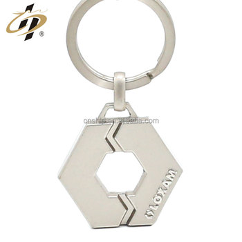 2018 Promotional custom metal silver keychains for souvenir