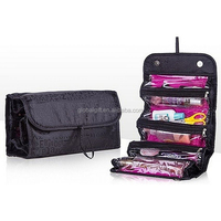Utrax Roll N Go Travel Cosmetic Bag Roll up Makeup Toiletry Bags Organizer with Four Compartments