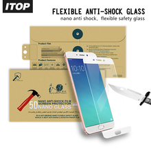 ITOP Free sample 9H best flexional glass screen protector anti-shock film for oppo R9