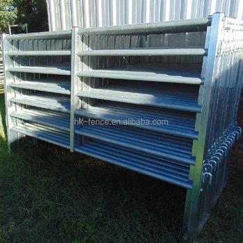 China supplier 40X80 heavy duty oval tube corral panels & livestock panel steel structure for farm