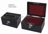 PU leather covered wood cosmetic box /cosmetic toll case
