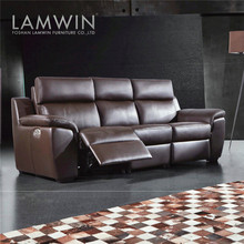 Luxury modern italy lazy boy leather sofa recliner used