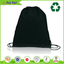 Non Woven Recyle Black Plain Blank Backpack Shopping Sublimation Drawstring Bag