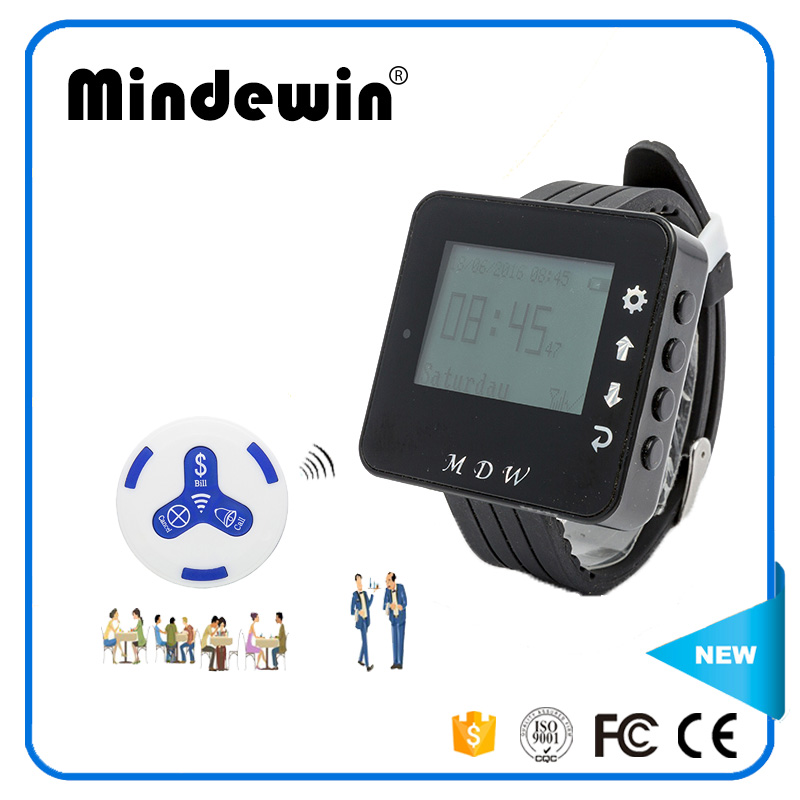 Mindewin Restaurant Table Call System Watch Pager