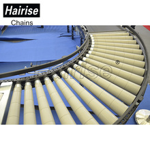 automated curve flexible 90 degrees motorized gravity heavy duty idler belt rollers conveyor assembly line transport system