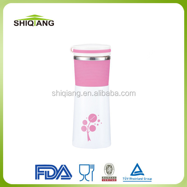 Promotion 350ml slim waist stianless steel thermo tumbler with silicon strap with competitive priceBL-8041A