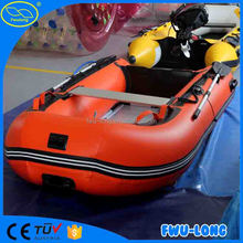 Fwulong 1.5mm pvc high Speed cheap inflatable boat /Mini Fishing Boat with CE for sale