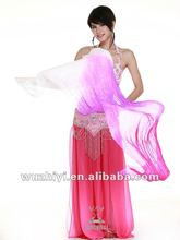 White Mix Three Colors Belly Dance Silk Fan Veil