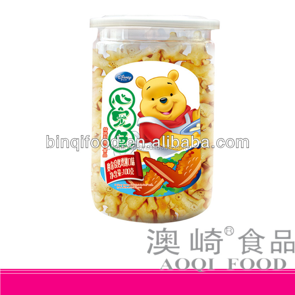 China Delicious 100g Salted Fish Shap Biscuit Manufacturer