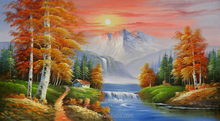 Remarkable artwork handmade natural landscape no diy crystal diamond painting