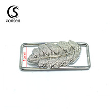 Metal oil-painted silver clasp buckles belt buckles customized for handbags