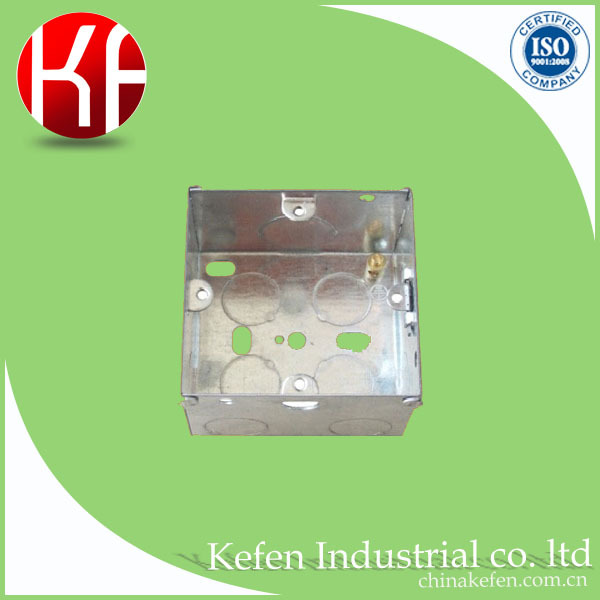 Cheap socket switch steel galvanized knockout box