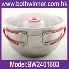 Stainless storage lid bowls ,h0tm3w 304 stainless steel noodles bowl for sale