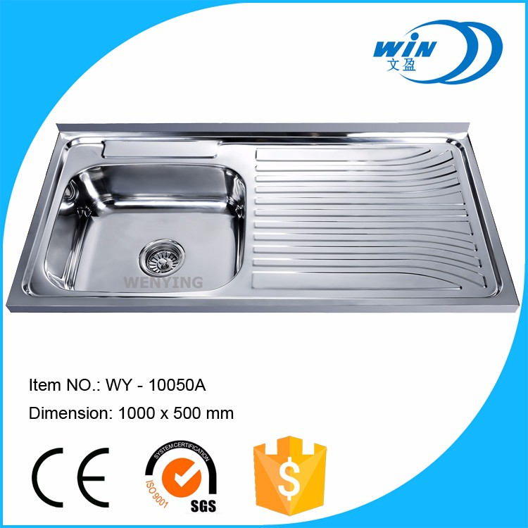 Russia stainless steel ss kitchen water sink