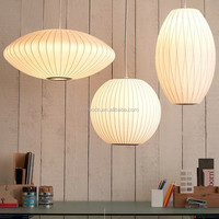 Northern Europe Modern Decorative Handmade Fancy White Silk Skin Lantern Cocoon pendant light