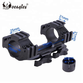 25mm 30mm Quick Release Tri-Rail Hunting Riflescope Gun Picatinny Rail Cantilever Scope Mount
