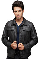 2015 hot selling men leather jacket in pakistan sialkot