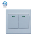 2 Gang 1 Way or 2 Way Lamp switches Wall lighting switch