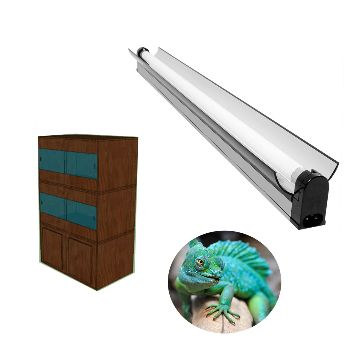 T5 HO reptile fixtures plant lighting fluorescent reflector bulb tube grow lights lamp