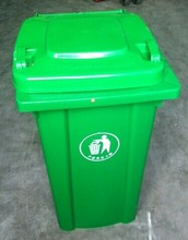 Green waste bin with lid for garbage collections/bulky waste collections