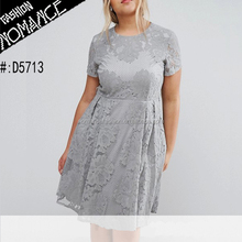 formal evening lace dress for plus size women