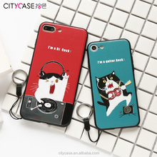 City&Case fashion rock cat custom phone case print for iPhone7 7plus