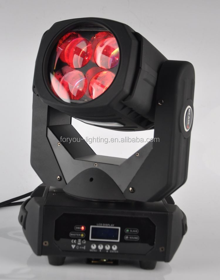 Professional Stage DJ KTV Discotheque Equipment Sharp 4x25W White LED Moving Head Beam