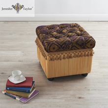 Luxury delicate home furniture storage bench/Middle East hot selling shoe storage stool