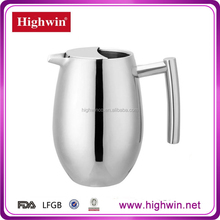 Mirror polished special style stainless steel thermal water pot