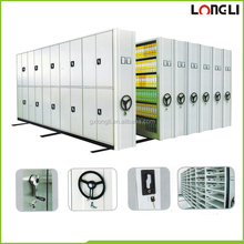 Metal Library Mobile Shelving System Filing Storage Electronic Mobile Racking System