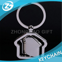 Classic House Shape Zinc Alloy Promotional Gift Metal Keychain Key Ring