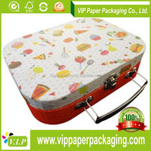 5 LAYER CORRUGATED CARDBOARD PAPER SUITCASE GIFT BOX WITH DIE-CUT HANDLE FOR FRUIT PACKAGING