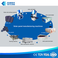 Assembling PV Module Line 1MW 5MW Train Free Semiautomatic Solar Panel Manufacturing Machines
