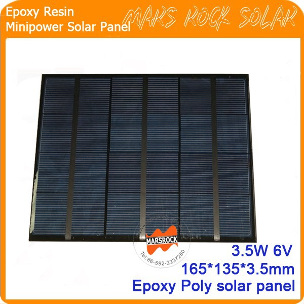 3.5W 6V 165*135mm Customized Small Power Mini Solar Panel with epoxy resin encapsulated for Toy, LED light, mobile charger