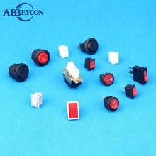 cUL VDE approved 16A 250Vac dpdt rocker switches with indicator lamp
