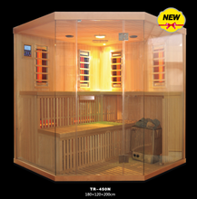 On Sale Sauna And Steam Combined Room with stove and REd Glass heater for beauty salon(CE/ETL/RoHS)