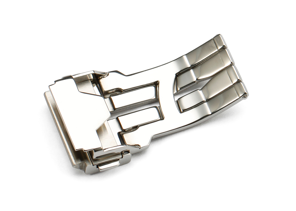 22mm 24mm 316L Stainless Steel deployment clasp watch buckle belt Push Folded watch deployment clasp