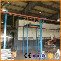 metal door automated powder coating line manufacturer in china
