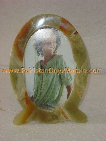 HAND CARVED ONYX PHOTO FRAME HANDICRAFTS