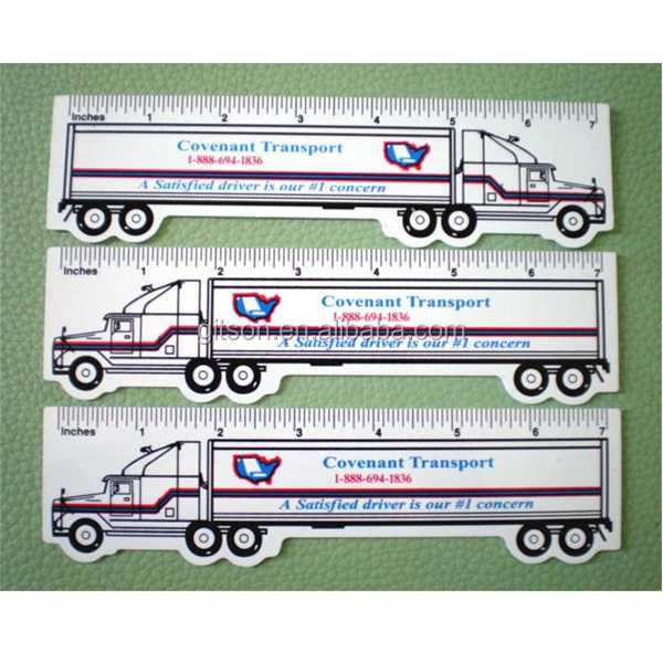 PVC ruler with car shape /7 inches ruler/ruler can be printed LOGO/two side printing