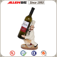 "11.2"" white chef resin statue wine bottle holder wholesale"