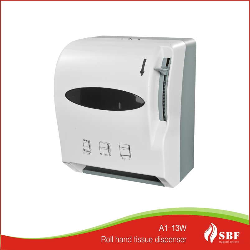 hand hygiene system white/black ABS roll plastic hand towel tissue dispenser