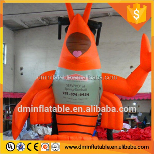 Giant LED light Inflatable Lobster for Advertising Decoration