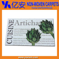 Custom artwork printed non-woven polyester commercial mat