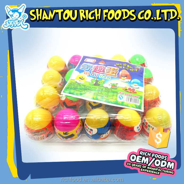 plastic surprise eggs toy candy