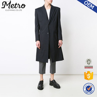 Custom man striped trench coat long winter coats