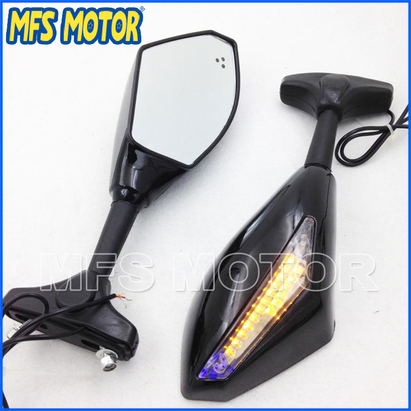 High quality Blue LED Turn Signal Mirror For Honda CBR 600 F4 F4i 900 929 954 CBR1000 125R 150R