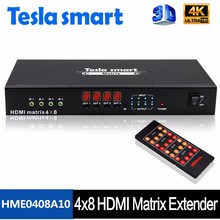 Manufacturer HDMI Matrix 4x4 4K Switch With IR Extender HDMI Matrix
