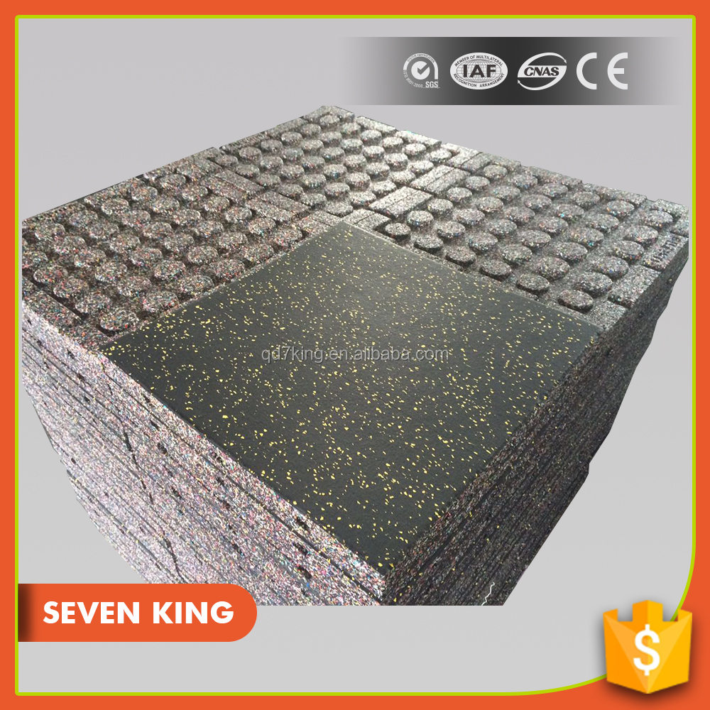 Qingdao 7king high density playground interlocking rubber running track paver mat
