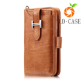 Genuine leather multifunction wallet phone case